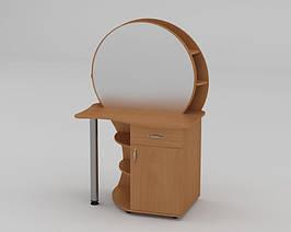 Будуарный туалетный столик трюмо стол в спальню Компанит 3 ШхГхВ - 957х598х1432 мм