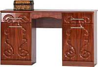 Будуарный туалетный столик трюмо стол в спальню Комфорт Д-582 ШхГхВ - 1300х460х785 мм