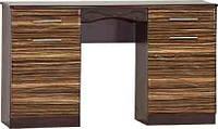 Будуарный туалетный столик трюмо стол в спальню Комфорт Д-583 ШхГхВ - 1300х460х785 мм