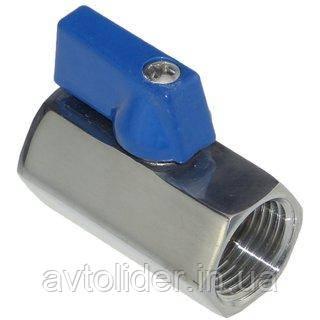 Шаровый кран MINI с внутренней резьбой, нержавеющая сталь AISI 316 (А4)