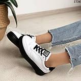 Кроссовки женские белые 5736, фото 5