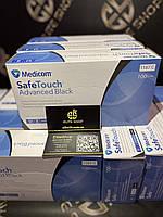 Сертифіковані рукавички чорні без пудри, не стерильні супер якості Medicom Safe Touch Black 100 шт!