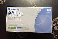 Высококачественные медицинские перчатки Medicom припудренные изготовлены из натурального латекса 100 шт!
