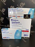 Нитриловые голубые перчатки MEDICOM SafeTouch 100 шт в упаковке