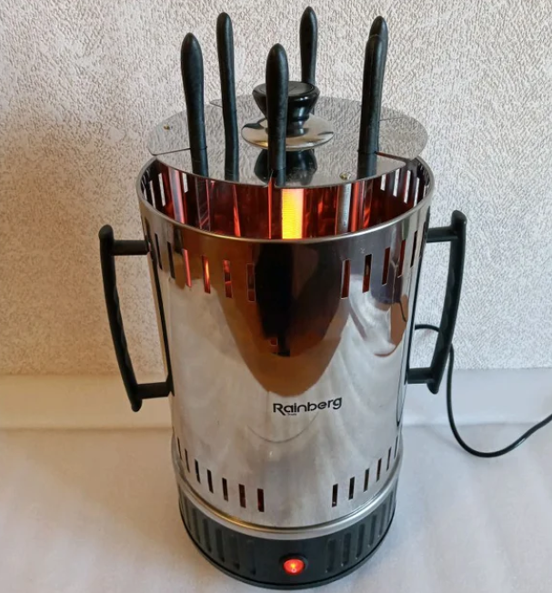 Электрошашлычница Rainberg RB-8612 на 6 шампуров 3200W