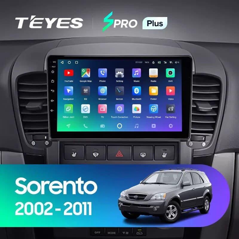 Штатная магнитола TEYES SPRO Plus Kia Sorento BL 2002 - 2011 Android