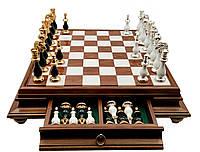 Шахматы подарочные Italfama Классические с позолотой и серебром