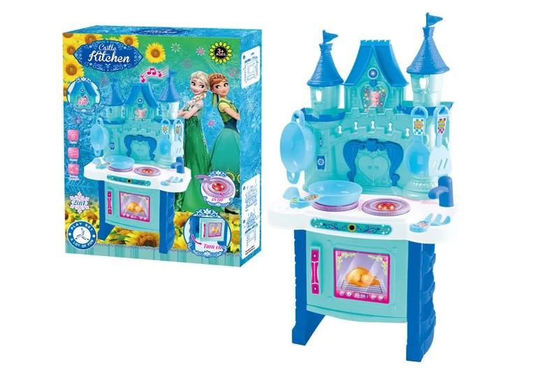 Набір Кухня Frozen світиться звук посуда в наборі в коробці 018-35