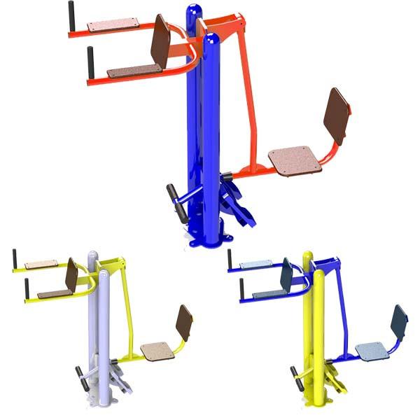 Жим ногами горизонтальный - упор для пресса Уличный тренажер для спортивной площадки SG142