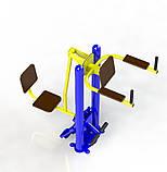 Жим ногами горизонтальный - упор для пресса Уличный тренажер для спортивной площадки SG142, фото 4