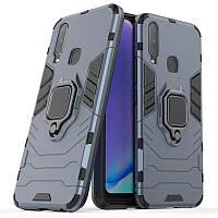 Чехол Ring Armor для Vivo Y17 / Y3 / Y15 / U3X / Y11 Blue