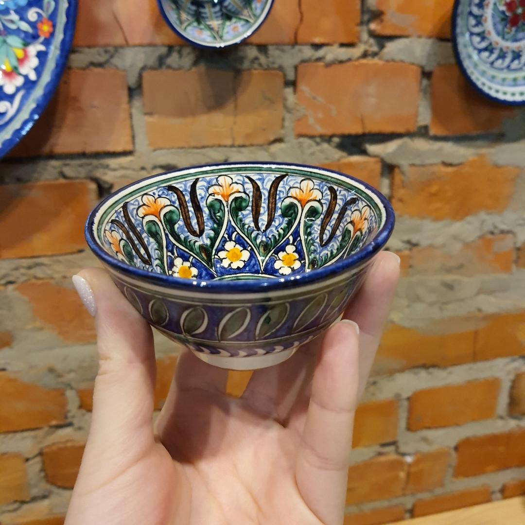 Узбекская пиала ручной работы ~125 мл, d 9.5 см. Керамика