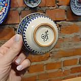 Узбекская пиала ручной работы ~125 мл, d 9.5 см. Керамика, фото 3