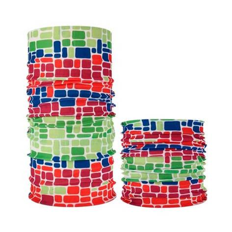 Бафф бандана-трансформер, шарф из микрофибры, 8 кубики, фото 2
