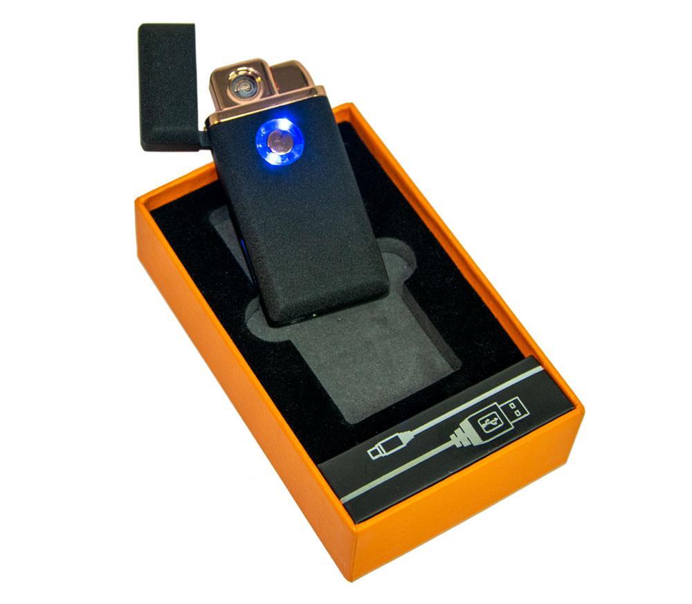 Электро-зажигалка спиральная + газовая турбо-зажигалка USB Lighter TH 705, электронная ЮСБ аккумуляторная (GK)
