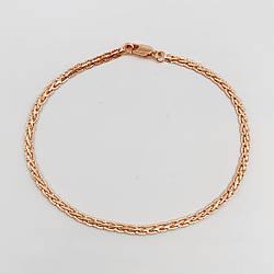 """Браслет """"Косичка"""" SONATA з медичного золота, позолота РВ, 52078 (20 см)"""