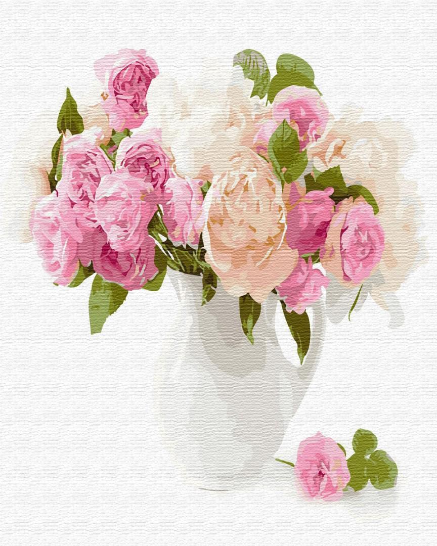 Картина за номерами Нежный букет цветов GX29428 40х50см набір для розпису, фарби та пензлі