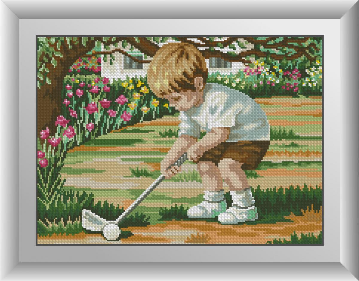 Алмазная мозаика Игра в гольф Dream Art квадратные стразы, полная зашивка. Набор алмазной вышивки 30985