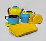 Чайний набір жовто-блакитний на 2 особи, фото 2
