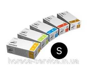 Перчатки латексные опудренные Mercator Medical Santex размер S 50 пар