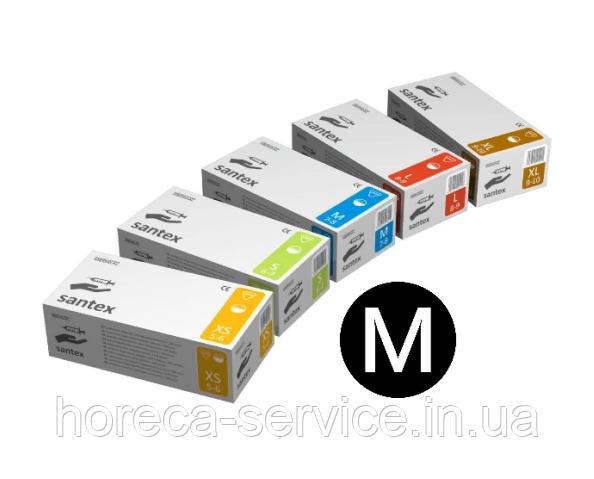 Перчатки латексные опудренные Mercator Medical Santex размер M 50 пар