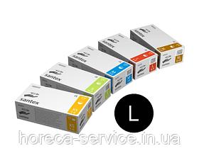 Перчатки латексные опудренные Mercator Medical Santex размер L 50 пар