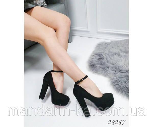 Демисезонные Туфли LM на широком каблуке, ремешок вокруг ноги; Высота каблука 13 см; платформа спереди 3 см;