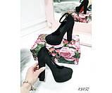 Демисезонные Туфли LM на широком каблуке, ремешок вокруг ноги; Высота каблука 13 см; платформа спереди 3 см;, фото 2