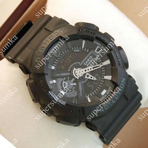 Элегантные спортивные наручные часы Casio GA-110 Black 6030