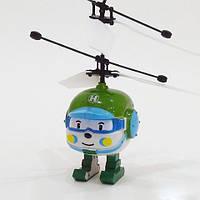 Летающий робокар Полли, Рой, Эмбер, Хелли - с пультом управления, игрушка на р у запускалка