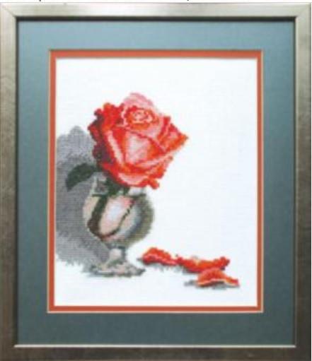 А-111 Троянда в бокалі. Набор для вышивки крестом крестом