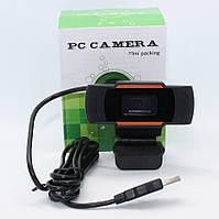 Веб-камера с микрофоном для компьютера W2E Full HD USB Webcam проводная Вебка с креплением