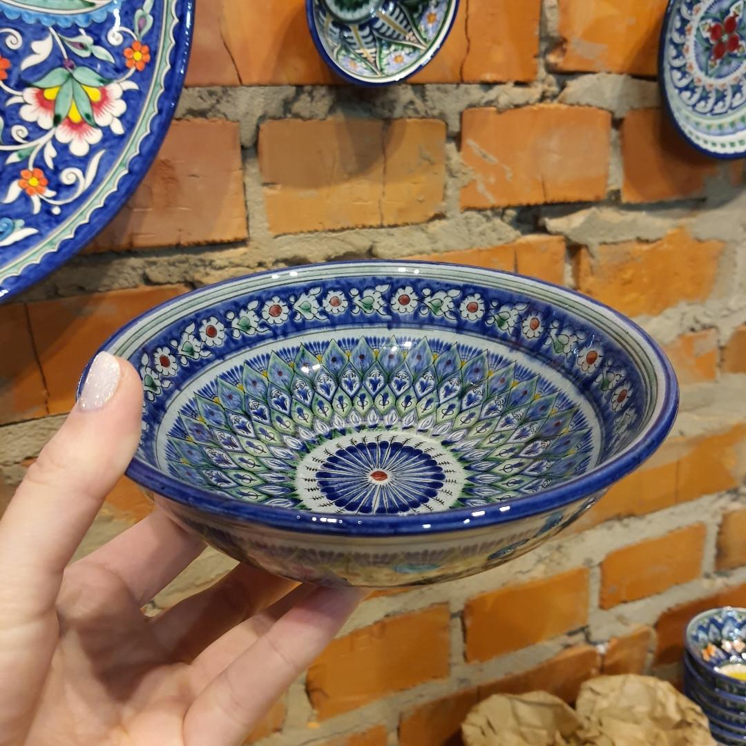 Глубокая тарелка ~450 мл. Ручная работа. Узбекистан (17_2)