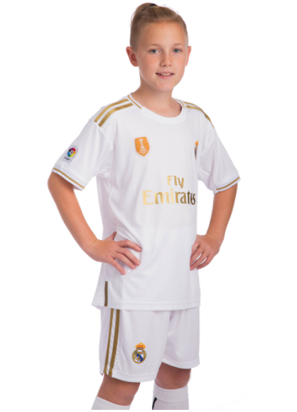 Форма футбольная детская REAL MADRID домашняя 2020 CO-0953 (реплика) размер 26