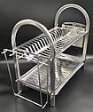 Сушка для посуду з нержавіючої сталі 2х ярусна, фото 2