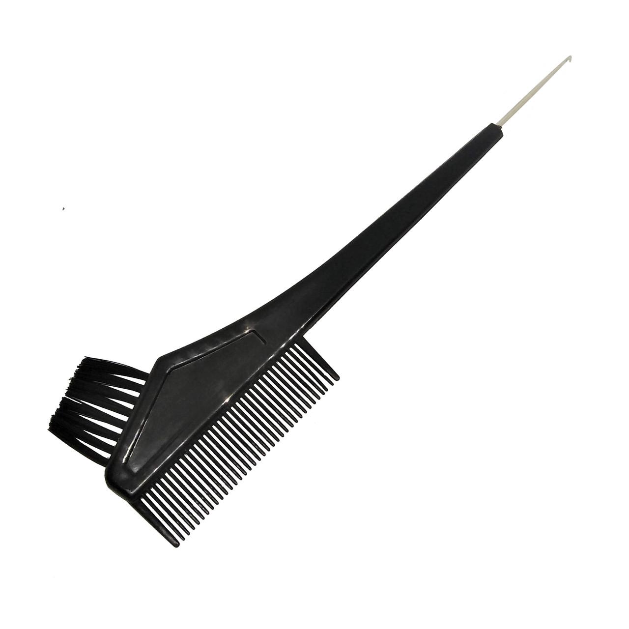 Кисть для окраски волос с гребнем Sibel 8450151, с металлическим крючком