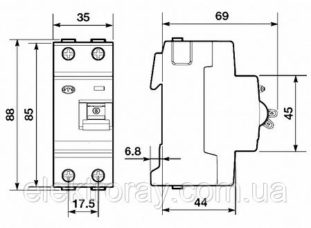 УЗО FH202 2Р 40А 30мА ABB (дифференциальный выключатель), фото 2