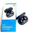 Беспроводные bluetooth наушники MI Redmi Airdots Pro с LED дисплеем стерео гарнитура белые, фото 2