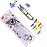 Набор для пэчворка и квилтинга 15 ед 2 коврика А3 + А4 мат лекало дисковый нож для шитья, фото 8