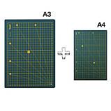 Набор для пэчворка и квилтинга 15 ед 2 коврика А3 + А4 мат лекало дисковый нож для шитья, фото 3