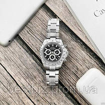 Часы мужские наручные механические с автоподзаводом Rolex Daytona Metal Automatic Silver-Bl реплика ААА класса, фото 2