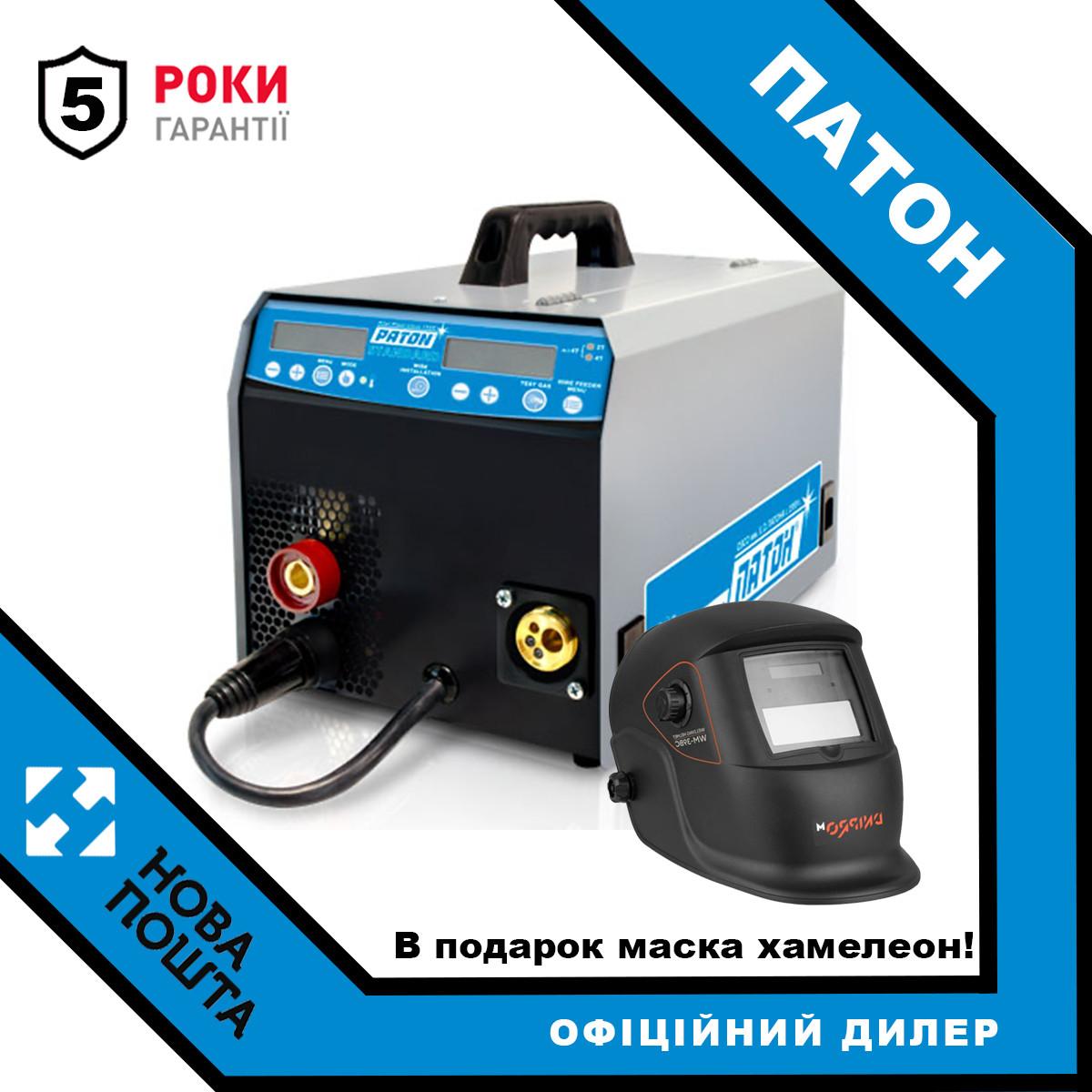 Инверторный цифровой полуавтомат Патон ПСИ-160S + маска хамелеон
