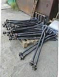 Болт фундаментный М30 тип 1 изогнутый по гост 24379.1-80, фото 2