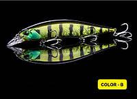 Воблер для ловли щуки Walk Fish Minnow 135 3D глаза