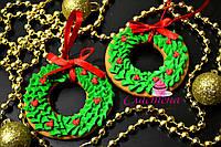 Оригинальный подарок на Новый год 2018- медовый имбирный пряник - ёлочное украшение