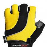 Велорукавички PowerPlay 5037 C Чорно-жовті M SKL24-144325, фото 2