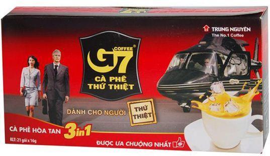 Вьетнамский растворимый кофе G7, 3 в 1 , Original, 21 пак