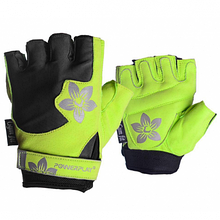 Рукавички для фітнесу PowerPlay 1733 С Чорно-Зелені XS SKL24-144431