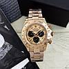 Часы мужские наручные механические с автоподзаводом Rolex Daytona Metal Gold-Black-Rose реплика ААА класса, фото 4