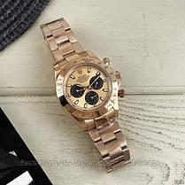 Часы мужские наручные механические с автоподзаводом Rolex Daytona Metal Gold-Black-Rose реплика ААА класса, фото 3